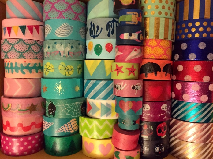 Photo of lots of decorative tape