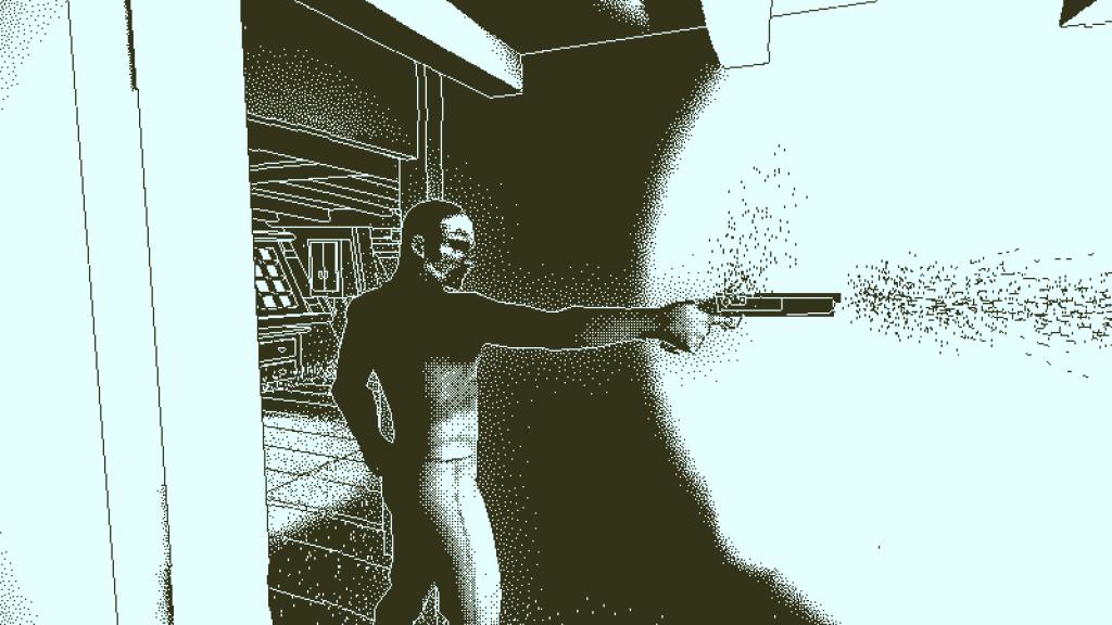 A man firing a pistol