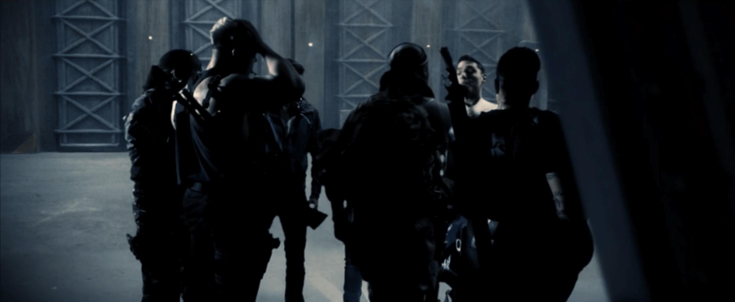 An awkward shot of the main characters